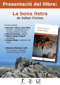 """Presentación en València de """"La Bona Lletra"""""""